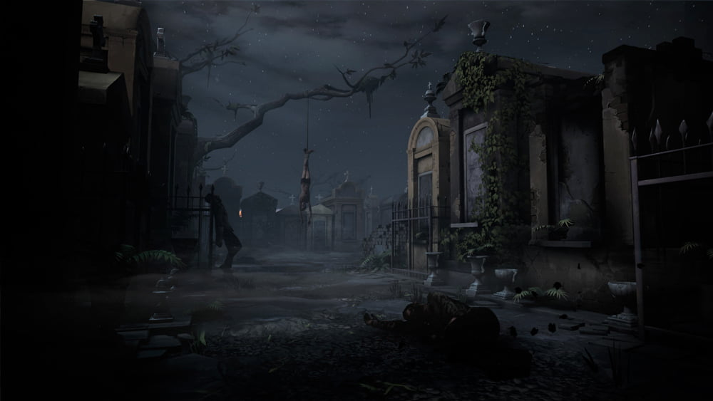 Gleich am Anfang geht es erstmal auf den Friedhof. Nett!