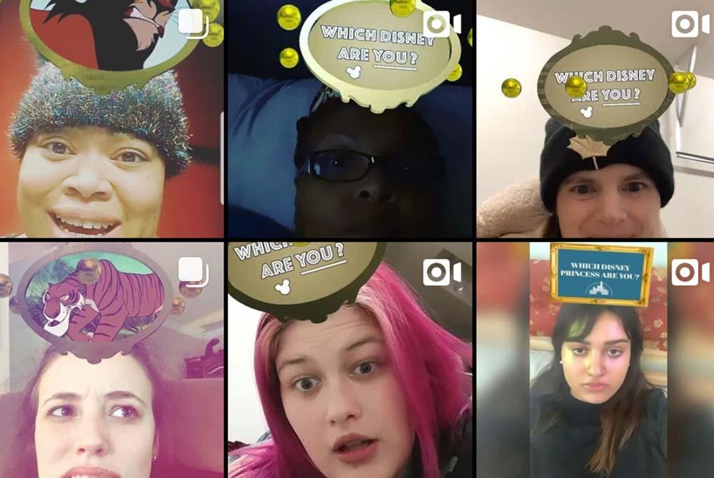 Neuer Instagram-Trend: Gamifizierte AR-Filter mit Disney und Co.