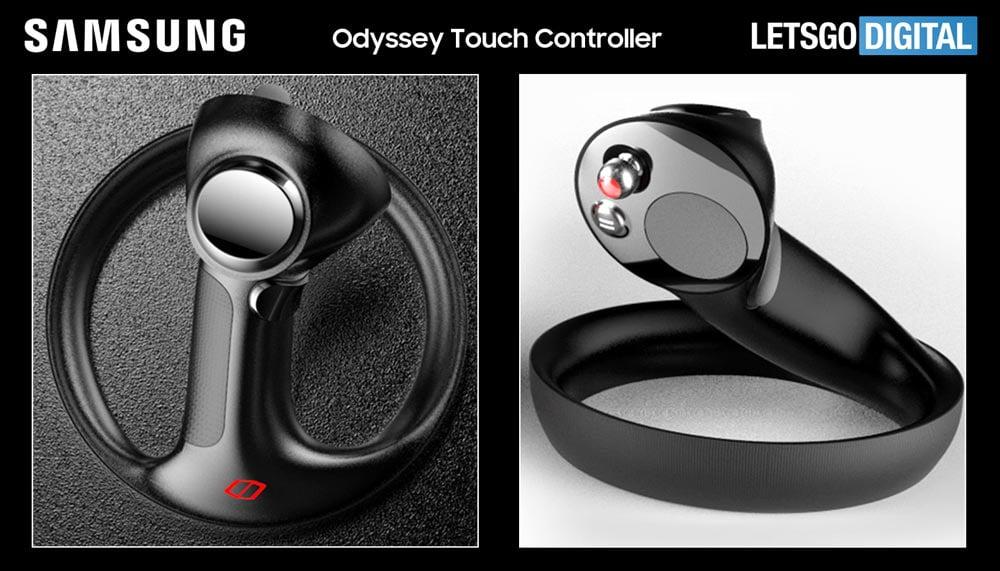 Samsungs Design-Patent umfasst ein neues VR-Controller-Modell, das allerdings nicht besonders praktikabel aussieht. Eine Produktion dürfte unwahrscheinlich sein. | Bild: Samsung / WIPO via Let's Go Digital