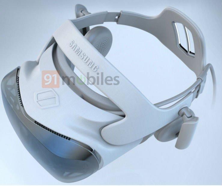 Die Designs der patentierten VR-Brille zeigen eine Kabelverbindung - vielleicht zu einem Samsung-Smartphone mit 5G? Bild: Samsung / via 91mobiles