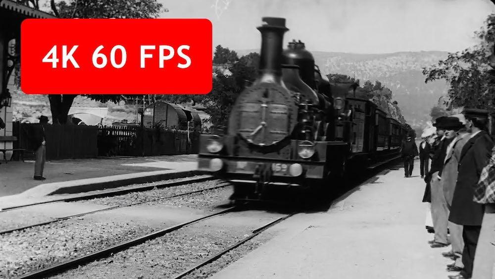 KI-Upscaling: So sieht ein Video von 1896 in 4K, 60 FPS und Farbe aus
