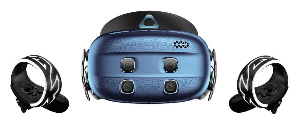 Vive Cosmos XR mit Cosmos-Controllern von vorn