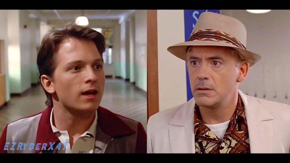 Ein Deepfake lässt Tom Holland und Robert Downey Jr. gemeinsam auftreten, allerdings nicht als Avengers.