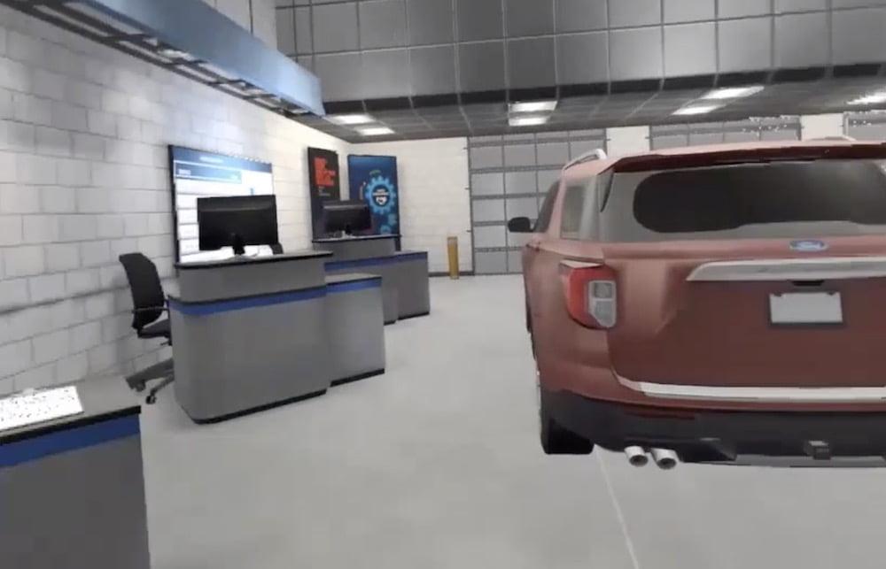 Den Umgang mit dem Ford Mustang Mach-E lernen Techniker anhand einer VR-Schulung.