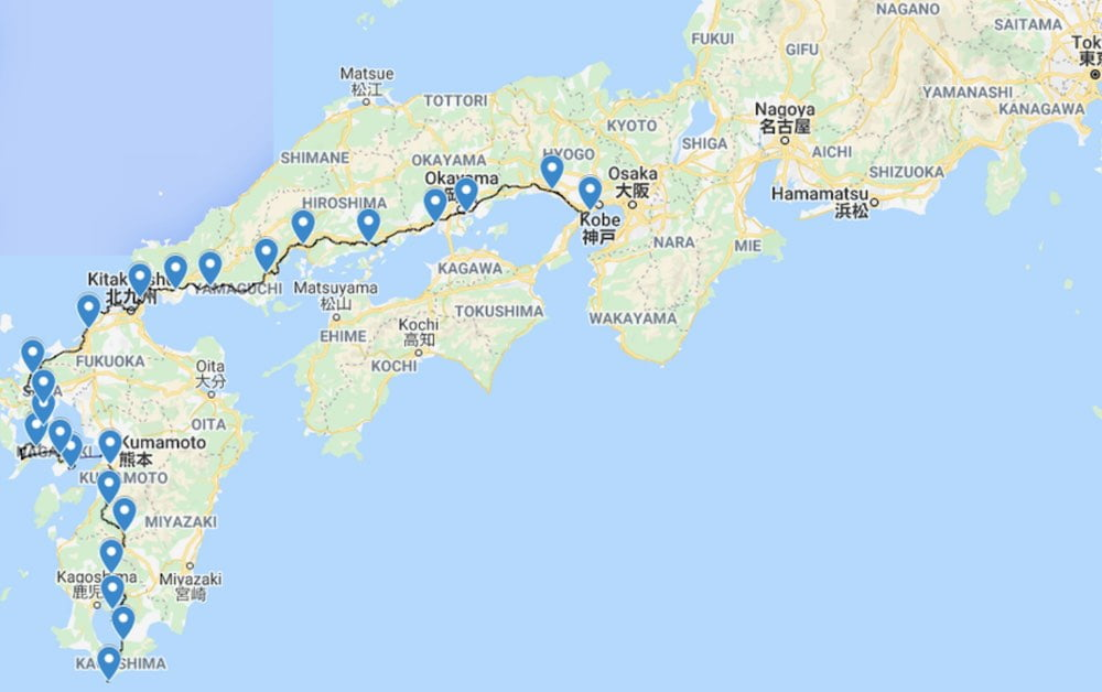 Knapp 1.200 Kilometer weit radelte ein Mann virtuell durch Japan.
