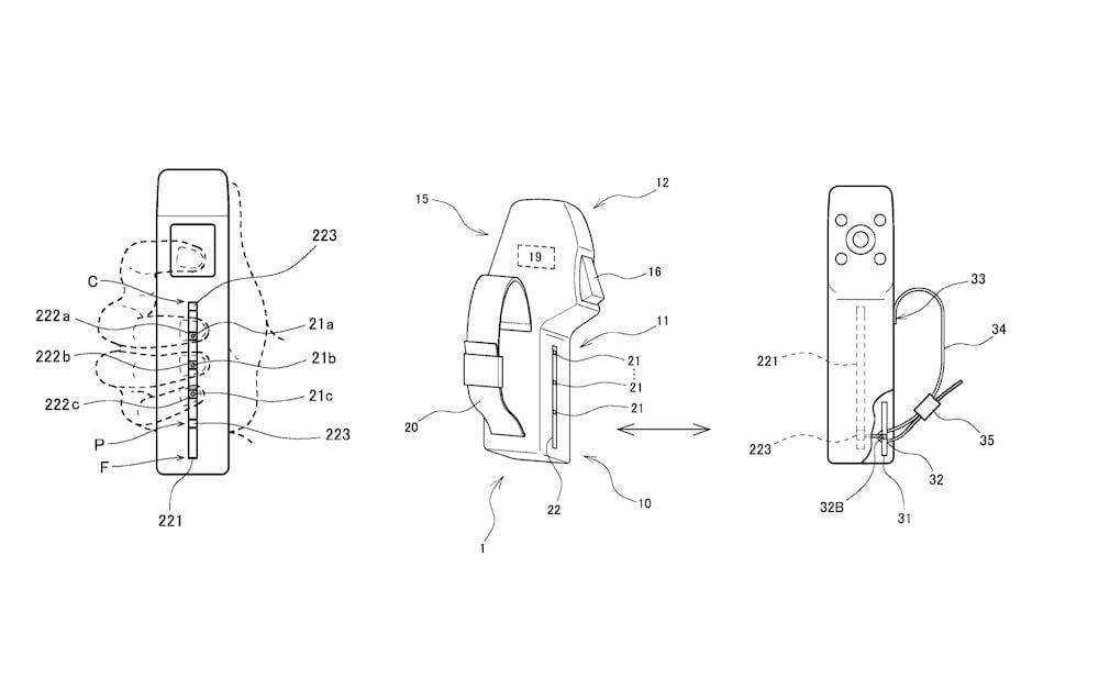 Konzeptzeichnungen eines Patents von VR-Controllern noch Sony
