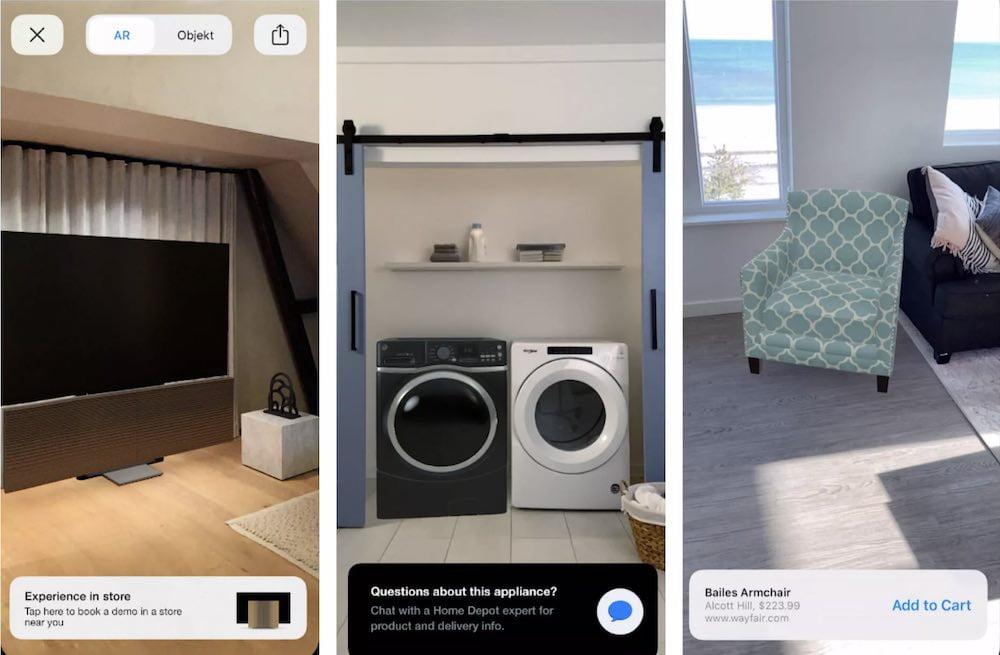 Das Kaufen und Verkaufen via Augmented Reality gestaltet sich jetzt noch einfacher, dank Quick Look.