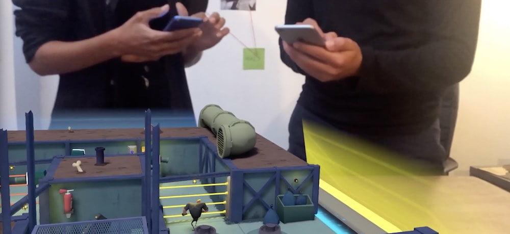 Secret Oops! ist eines der ersten AR-Spiele, das einen lokalen Mehrspielermodus bietet.