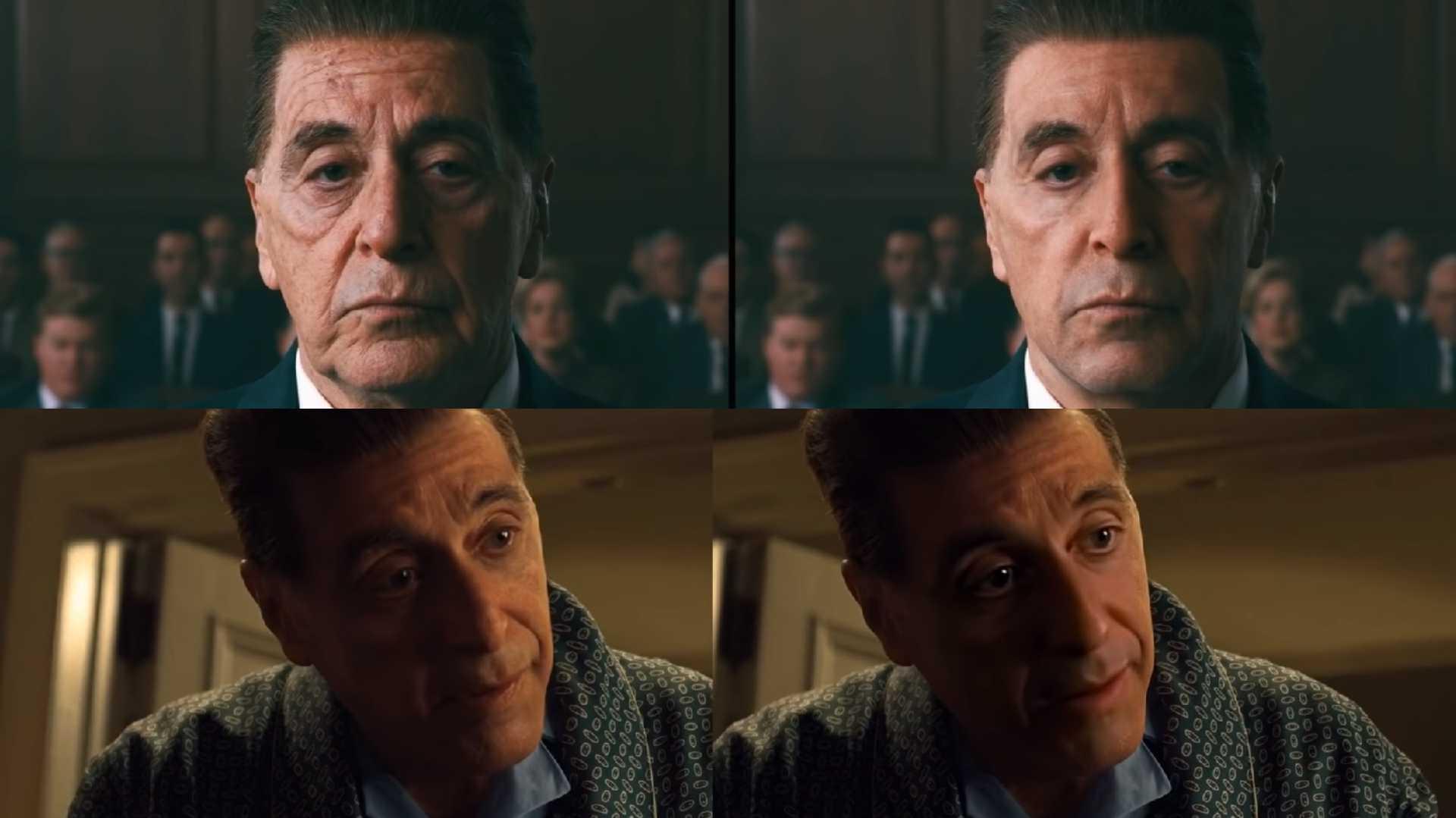The Irishman Netflix vs. Deepfake Vergleich Al Pacino