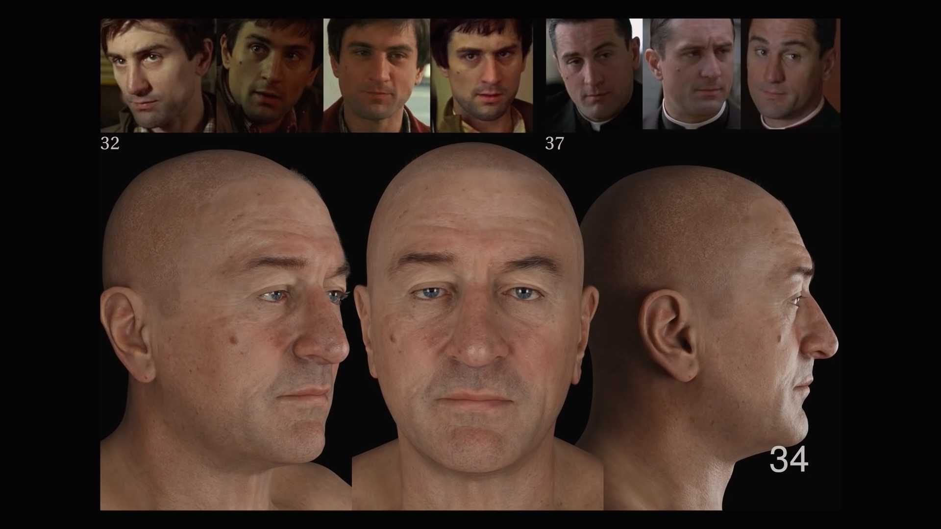 The Irishman Robert DeNiro 3D-Modell