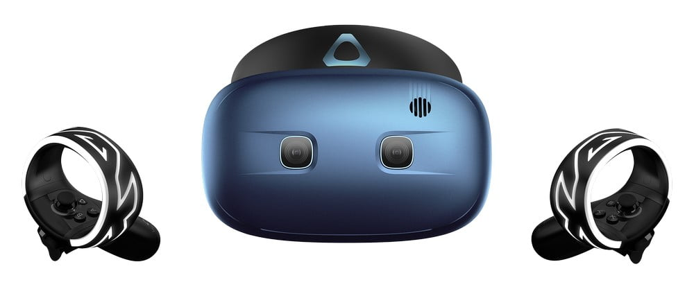 Vive Cosmos Play von vorn mit Cosmos Controllern