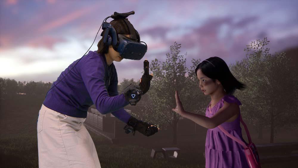 Der südkoreanische TV-Sender MBC überträgt die Virtual-Reality-Wiedervereinigung einer Mutter mit dem Avatar ihrer verstorbenen Tochter.