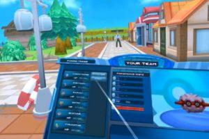 Menü und Gegner in Pokémon Showdown VR