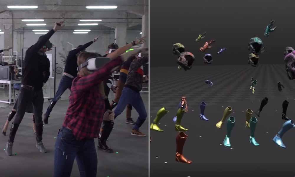 So sieht es aus, wenn zehn Personen gemeinsam in VR tanzen
