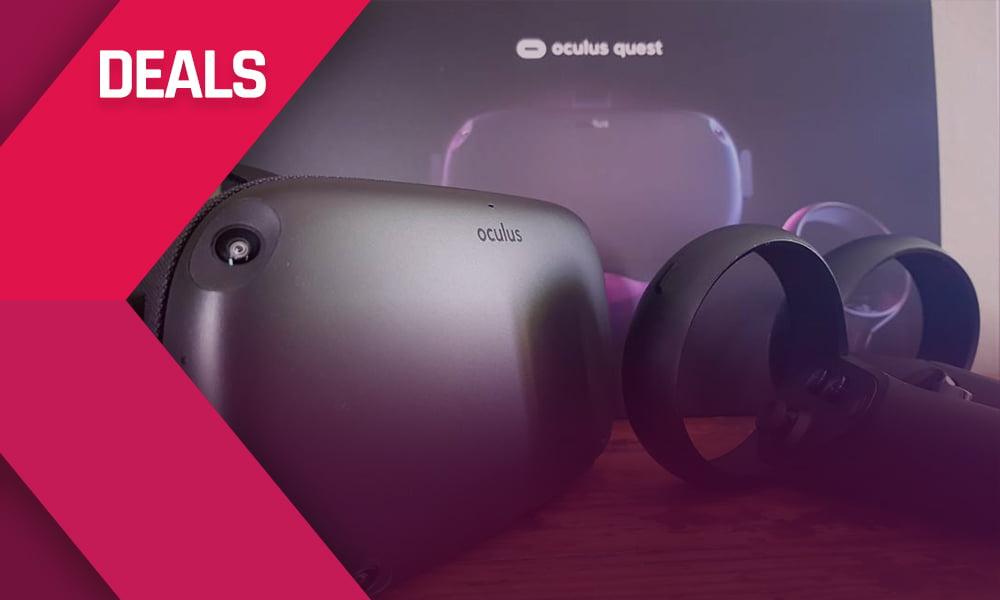 VR-Schnäppchen bei Amazon und Media Markt: Die flexible (PC-)VR-Brille Oculus Quest gibt's derzeit gut 30 Euro günstiger in beiden Speicherversionen.