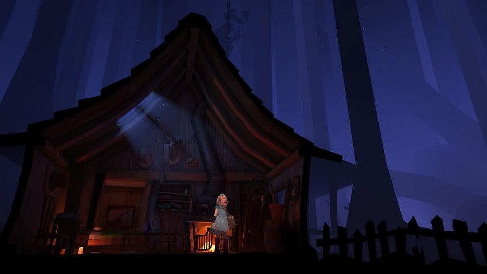 Mädchen in einem Haus in Down The Rabbit Hole VR-Spiel