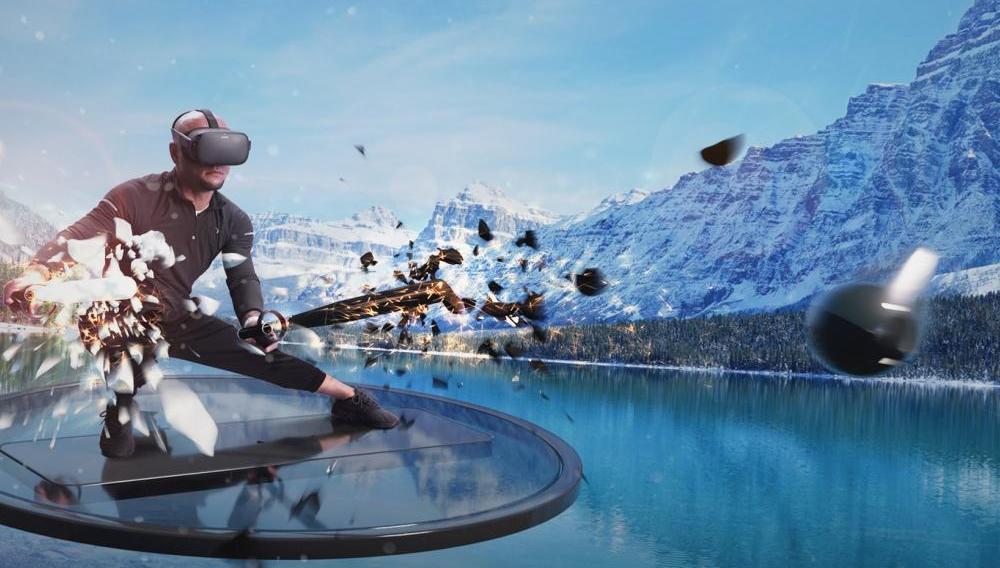 Im VR-Fitness-Spiel Supernatural trainieren Spieler in verschiedenen virtuellen Landschaften.