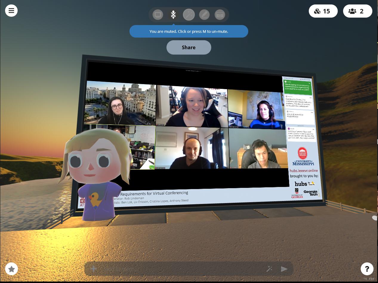 Eine Szene aus der digitalen IEEE mit VR-Elementen. Bild: Mozilla