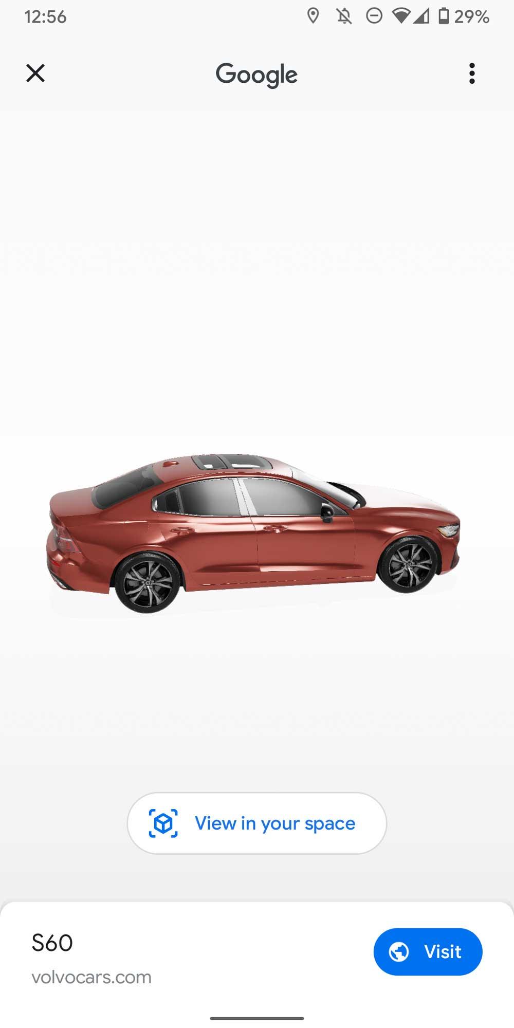 In den USA kann man schon 3D-Volvos in den Suchergebnissen entdecken.
