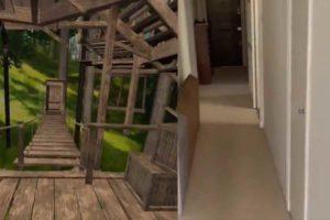 Die kabellose VR-Brille Oculus Quest macht aus einer normalen Wohnung in London ein Baumhaus mitten im Urwald.