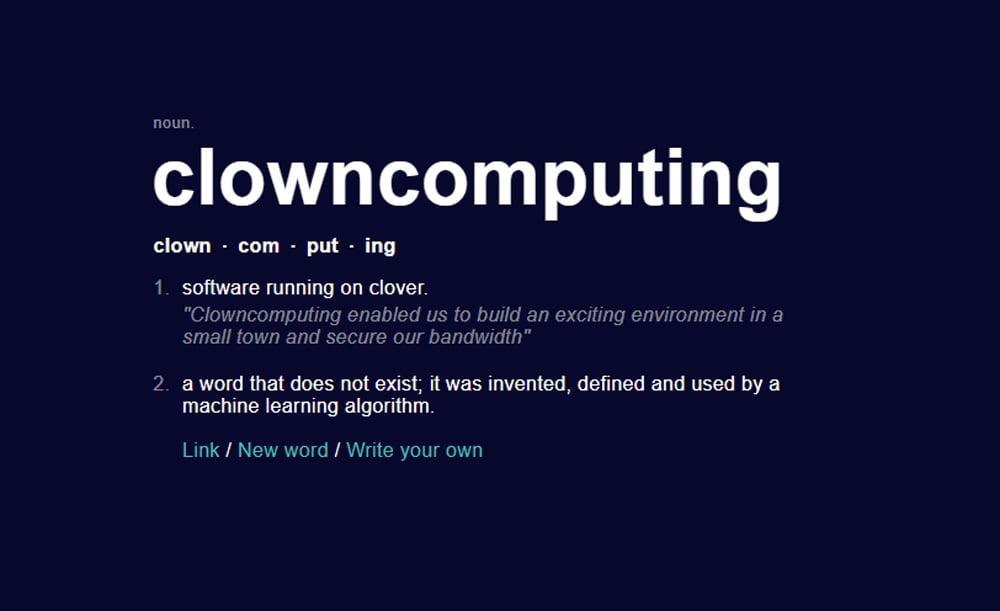 Clown-Computing: Mit dieser KI erfindet ihr neue Begriffe