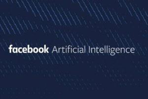 Logo von Facebooks KI-Forschungsabteilung, weiße Schrift auf dunkelblauem Grund