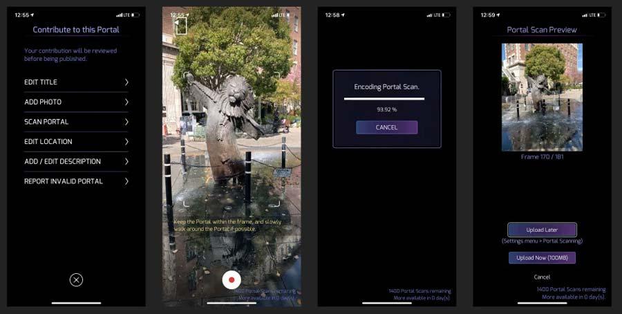 Der Scan-Vorgang ist direkt in die Spiele-App integriert. Durch das Spielelement hat Niantic einen starken Hebel, Menschen zum 3D-Scanning zu motivieren. Bild: Niantic
