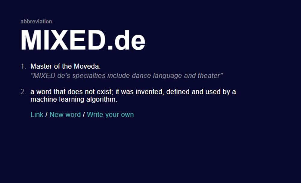 In Zukunft tanzen wir die Wörter. Für Theater könnt ihr ja in den Kommentaren sorgen.