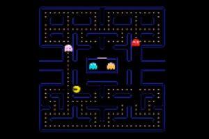 Ein unscharfes Pac-Man-Labyrinth, das von einer KI anhand von Videobildern trainiert wurde.