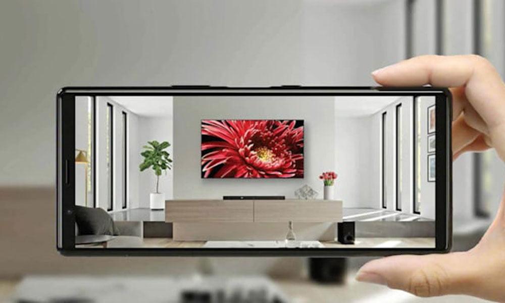 TV-Anprobe: Sony hängt euch Fernseher digital an die Wand