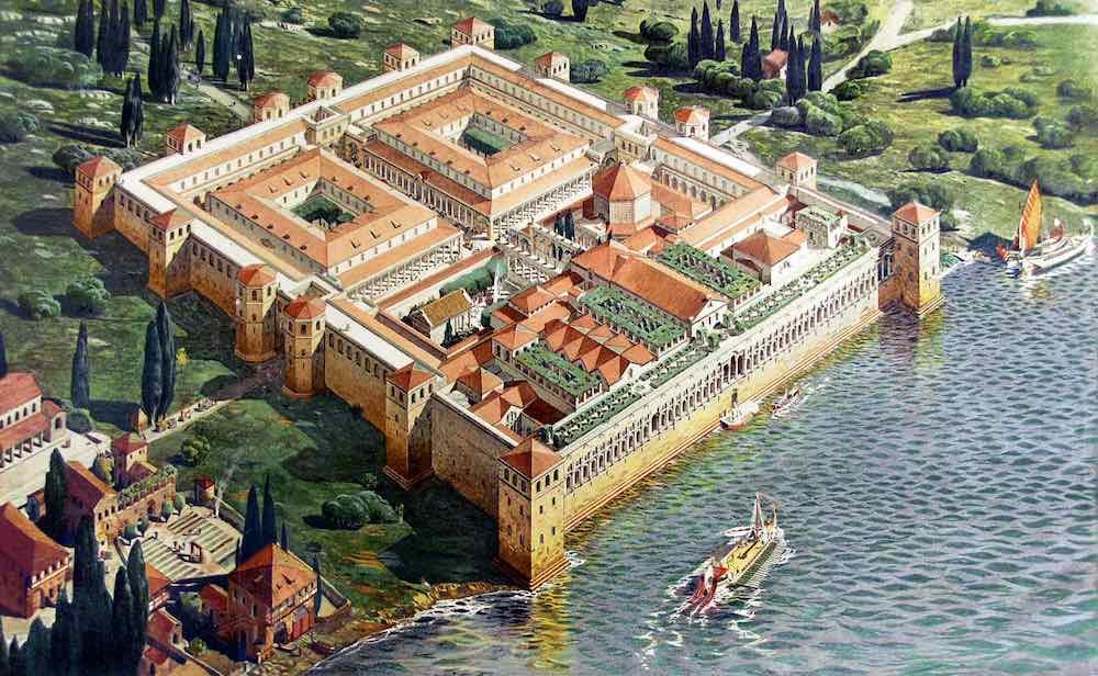 Diokletianpalast Historische Zeichnung