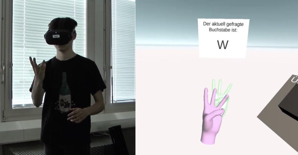 Oculus Quest: Fingeralphabet lernen mit Handtracking