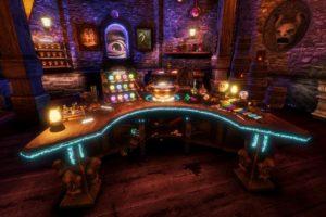 Das Turmzimmer des Zauberers im VR-Spiel Waltz of The Wizard