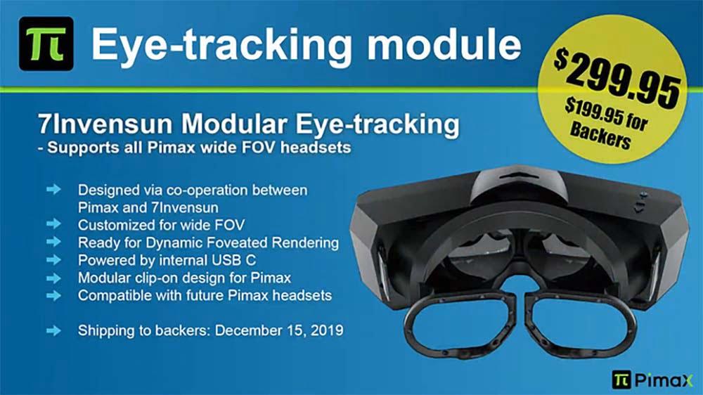 Die Veröffentlichungs- und Preispläne für das Pimax-Eyetracking-Modul sind inzwischen überholt.