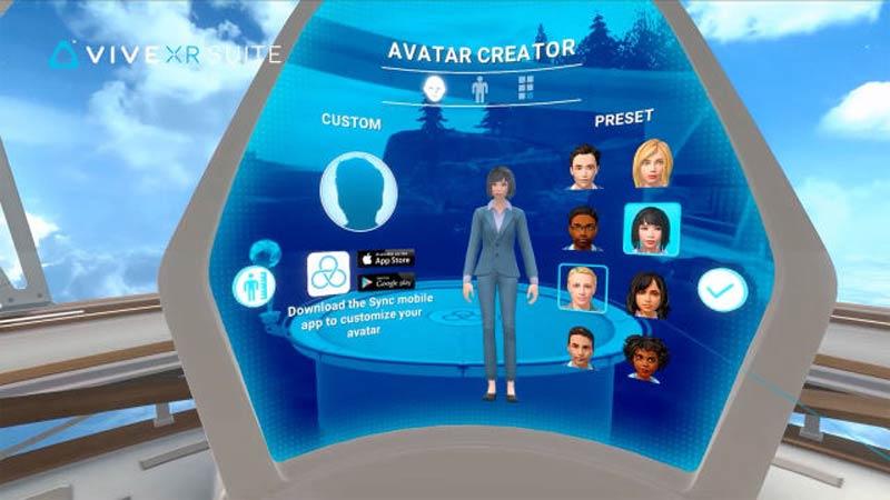 Die Vive XR Suite bietet einen einzelnen Login und Avatar für fünf unterschiedliche Telepräsenz-XR-Apps. | Bild: HTC