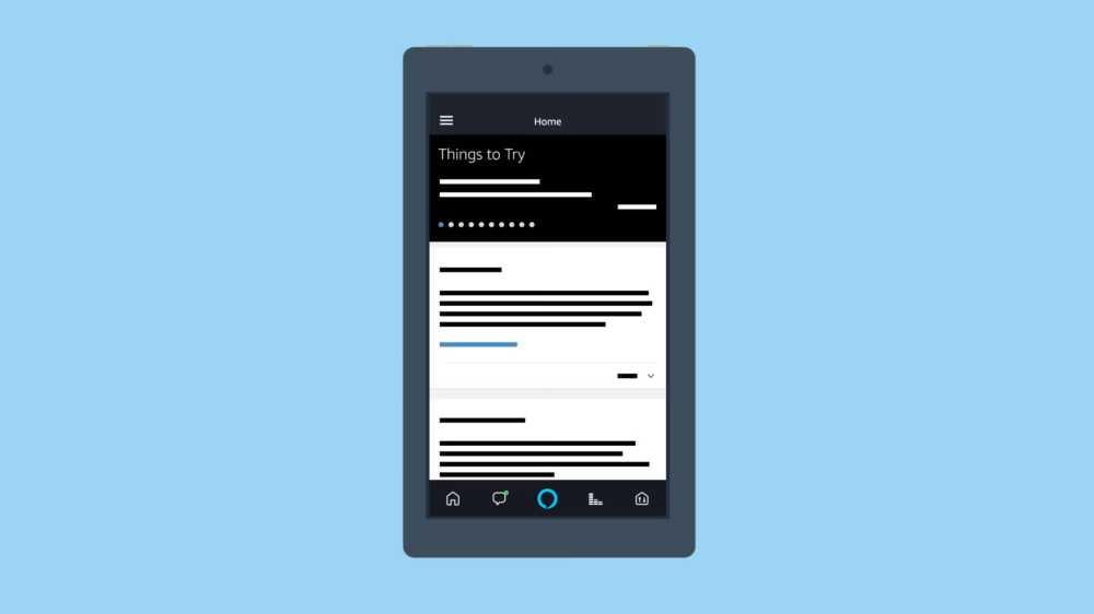 Ein Beispiel-Bild, wie die Amazon Alexa-App auf einem Smartphone läuft.