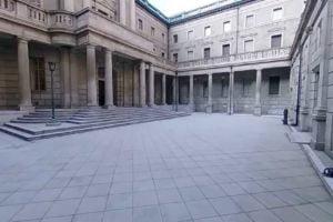 Der Innenhof der japanischen Zentralbank.