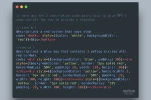 Diktieren statt programmieren: Entwickler Sharif Shameem macht sich die schnelle Auffassungsgabe von OpenAIs Sprach-KI GPT-3 zunutze und bringt ihr mit zwei Beispielen rudimentäre Web-Entwicklung bei.
