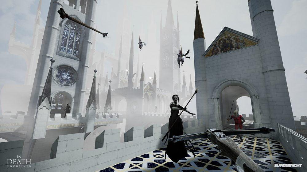 Armbrust zielt auf Hexen, Skelette und geflügelte Gegner in In Death Unchained