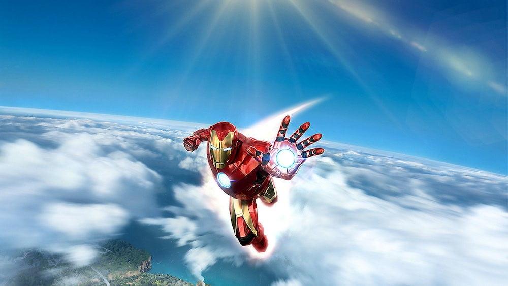 Iron Man VR schwebt über den Wolken