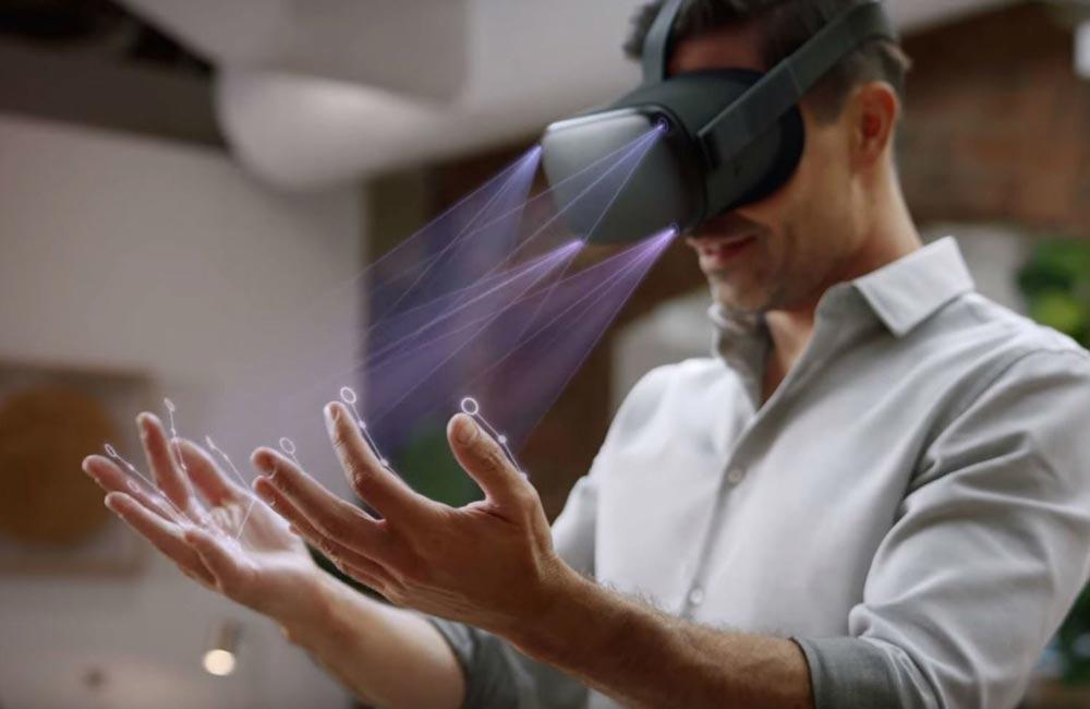 Oculus Quest: Oculus-Browser unterstützt Handtracking