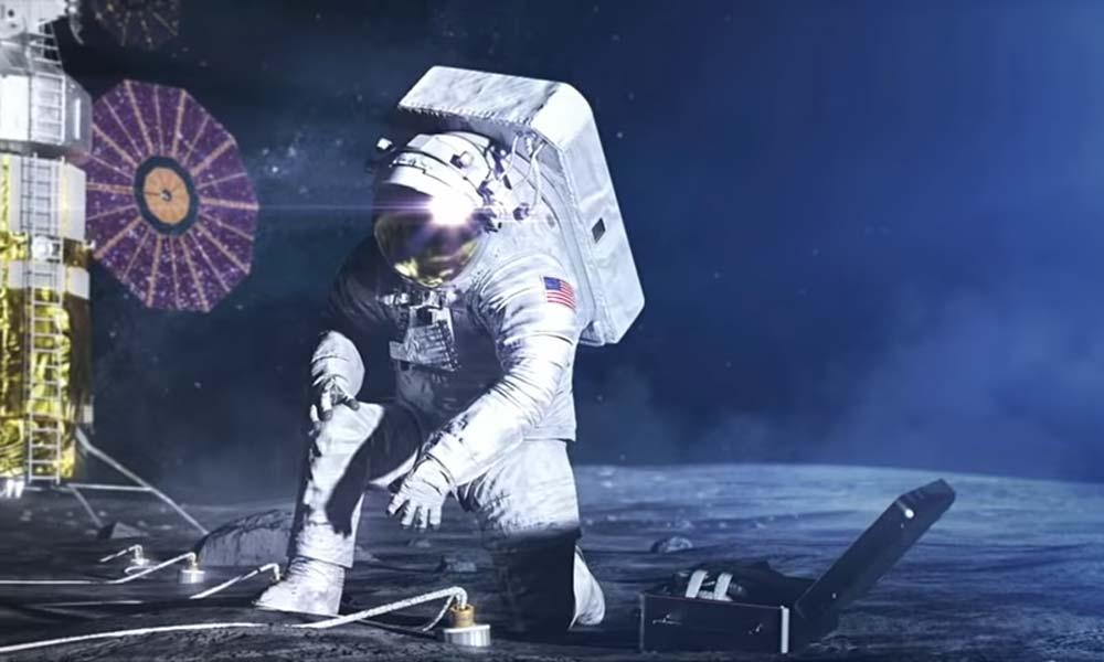"""Das Nasa-Raumfahrtprojekt """"Artemis"""" soll 2024 wieder Menschen auf den Mond bringen - darunter erstmals eine Frau. Bei der Entwicklung des Raumanzugs unterstützt Künstliche Intelligenz."""