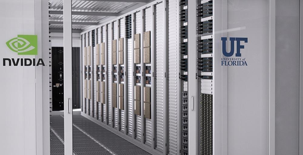 Nvidia und Uni Florida bauen KI-Supercomputer für 70 Millionen USD