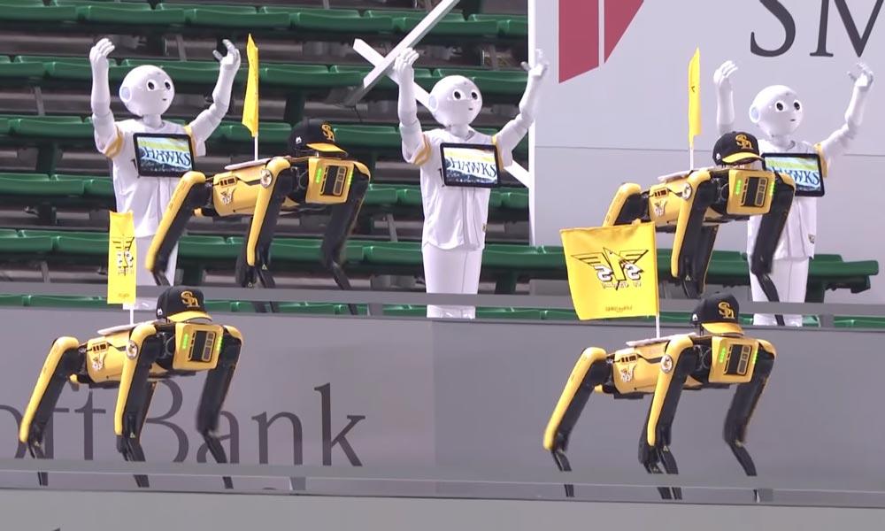 Boston Dynamics: 20 Spots & 19 Peppers tanzen