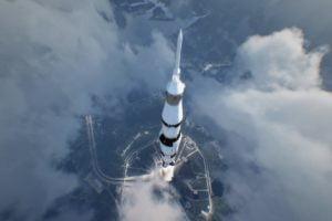 1st_Step_Rakete startet zum Mond im VR-Film 1st StepFaber_Courtial
