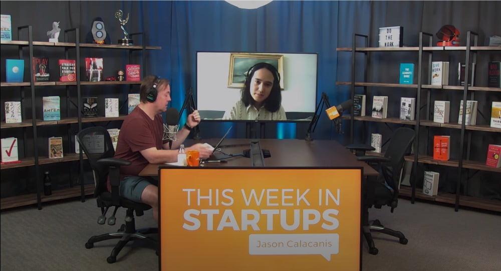 Clearview-CEO Hoan Ton-That in einem Video-Interview mit Jason Calacanis in der Show This Week in Startups