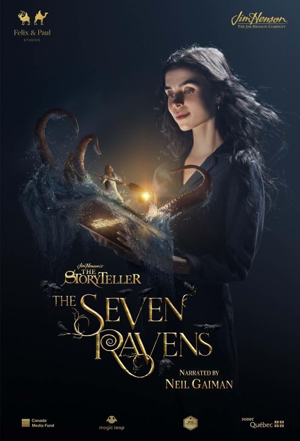 The Storyteller The Seven Ravens Plakat der AR-Erfahrung der Felix & Paul Studios