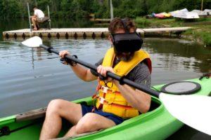 Verrücktes Experiment: Mit der VR-Brille ins Kayak