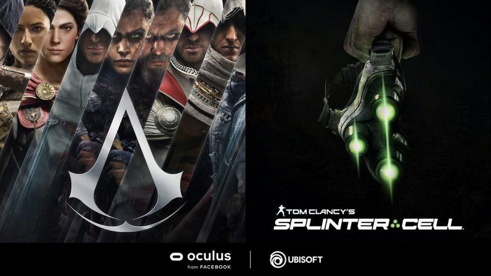 Teaserbild mit Assassin's Creed Artwork und dem Nachtsichtgerät aus Splinter Cell, beides kommt für VR