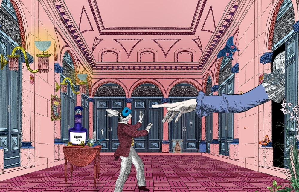 Das Titelbild zur VR-Erfahrung Curious Alice.